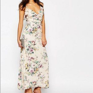 Oh My Love Maxi with Frill in Spring Blossom XS
